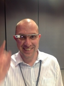 me wearing google glass :-)