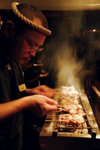 Ken Preparing Yakitori
