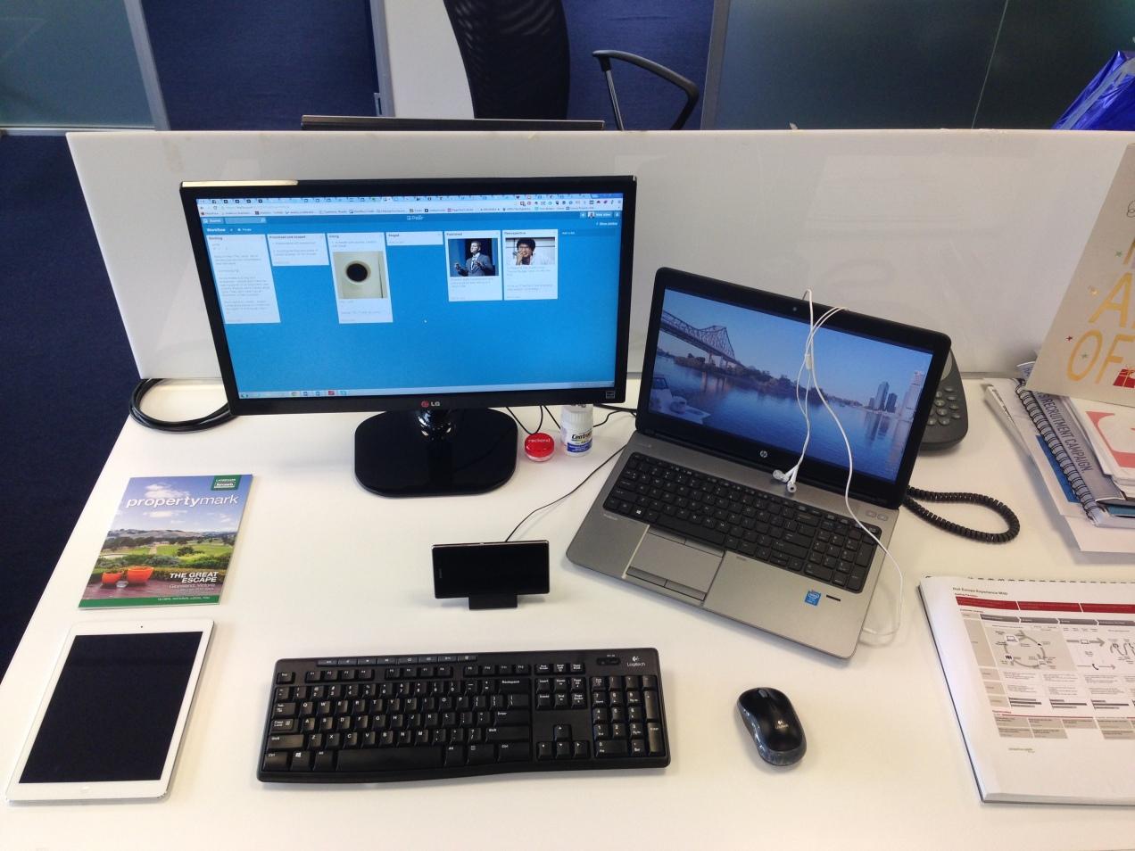 My Desktop, HP ProBook, Sony Z1 and iPad Air